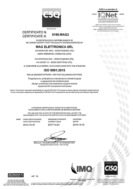 ISO Certification Rear